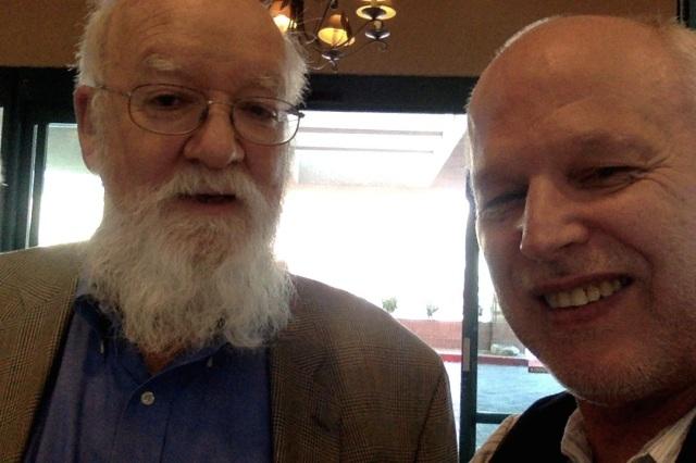 Daniel Dennet, Börje Peratt, konferensen Toward a Science of Consciousness, Tucson 2014