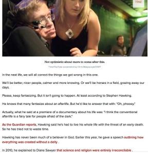 Stephen Hawking- Livet efter detta är enbart en saga
